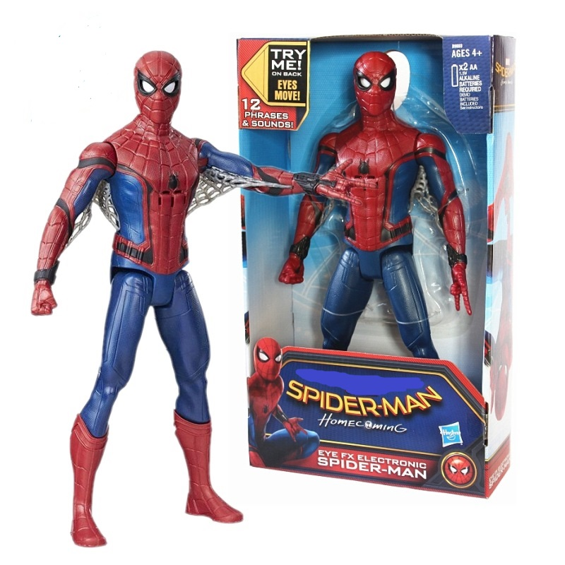NEW hot 30cm Spiderman Super hero Avengers Sound action figure toys collector Christmas gift doll with box купить