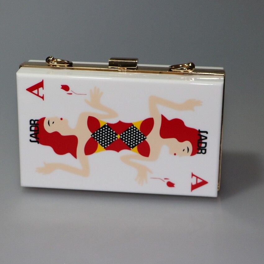 Nuevo Estilo Poker Bolsos de noche de Las Mujeres Mujeres del Diseño de Marca Bo