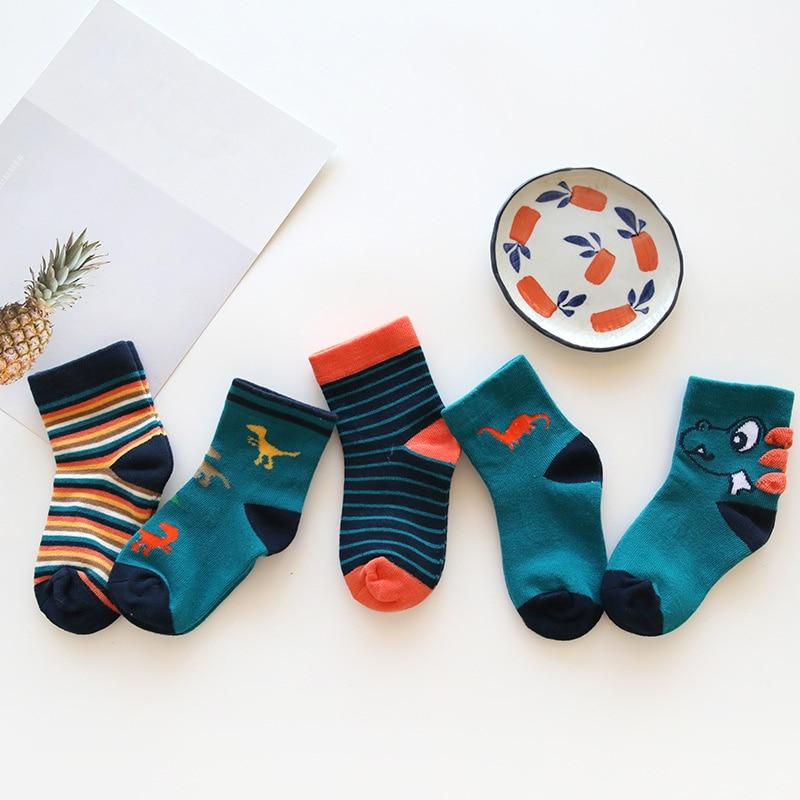 Baby Boy Socks 5 Pairs Children Autumn Winter Cartoon Socks For Girls Kids For Girls To School Sport Baby Girl Clothes #2