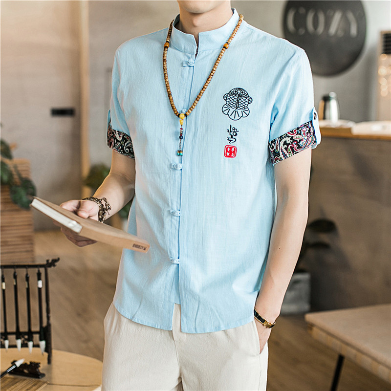 2019 summer traditional chinese clothing for men kung fu clothes cheongsam shanghai tang suit kungfu store men's vintage man 4