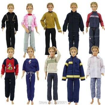 Commercio all'ingrosso 10 Set Uomini Casual Outfit Lungo del Breve Costume Casuale Bambole Vestiti Per Barbie Ken Doll 1:6 Dollhouse Figura Accessori 1