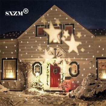 sxzm waterdichte led licht star landschap projector outdoor laser kerst led verlichting voor tuin gazon vakantie decoratie