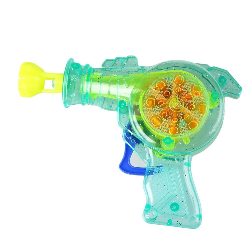Shining Bubble Gun Shooter Soap Bubble Blower Water Blowing Toys Outdoor Parent-child Interactive Kids Child Toys Color Random