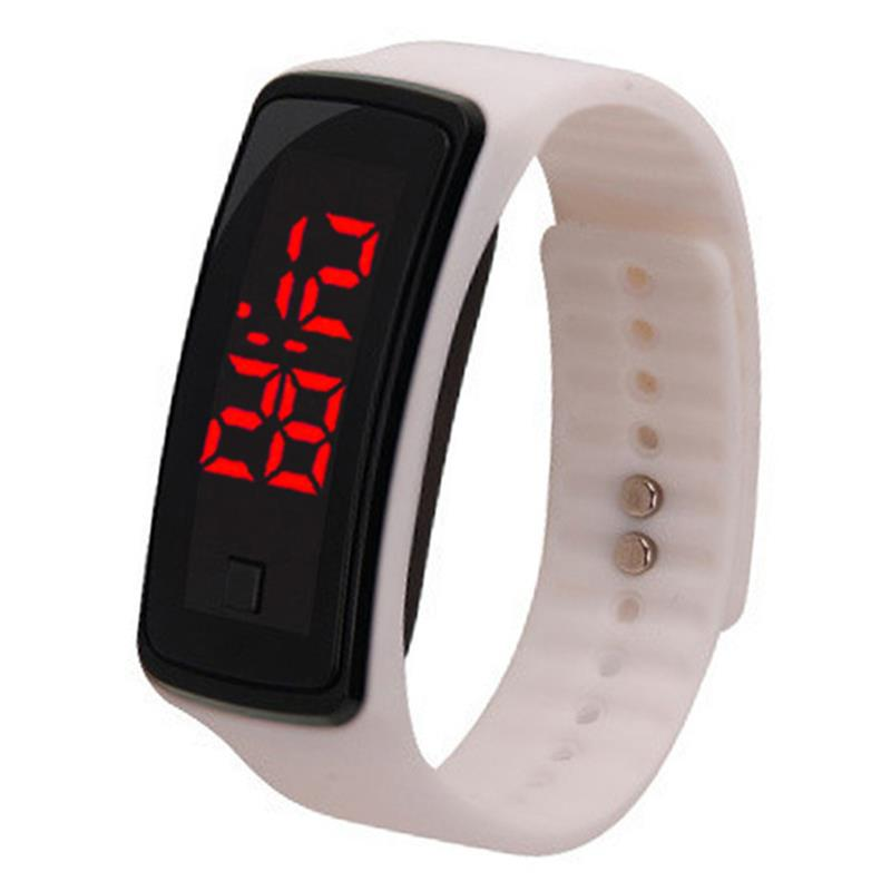 Solid Color Simple Wrist Watch Fashion Silicone LED Sport Watch Digital Watch For Women Men Fashion Clothing Accessories