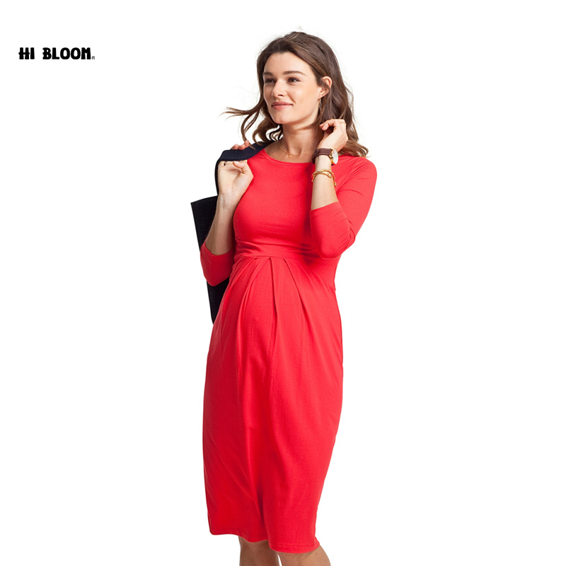 Maternity Clothes Formal Dresses Elegant Evening Party Dress For Pregnancy Fashion Gown Office Loose Lady Vestidos