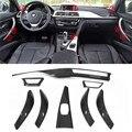 Guarnição de carbono 8 pçs/set Para BMW F30 3 Ser GT 4 Ser F36 & 6 pcs Para 4 Ser F32 F33 Fibra De Carbono Guarnição Interior Apenas LHD Gloss preto