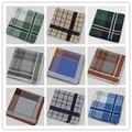 3 unids/lote caballeros Classic cheque a cuadros de algodón pañuelos hombres alta calidad del pañuelo 100% pañuelos de algodón 15 colores 43 * 43 cm