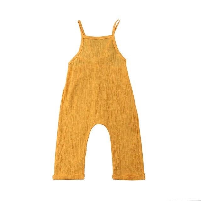 6177c9a3b 2018 Brand Kid Baby Girl Boy Bib Pants Backless Romper Jumpsuit ...