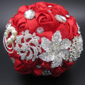 Gorgeous Customized Silk Roses Wedding Accessories Pearl Beaded Brooch buque de noiva Wedding Flowers Bridal Wedding Bouquet FE3