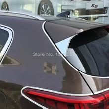 For KIA Sportage 2016 2017 abs chrome exterior trim rear window cover back window wing frame not for car style Sportage EX