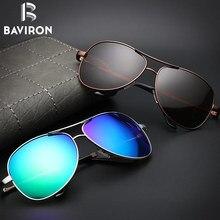4f8528dd2d BAVIRON clásico piloto gafas de sol para hombre colorido espejo gafas de  sol polarizadas en blanco paquete para el modelo Dropsh.