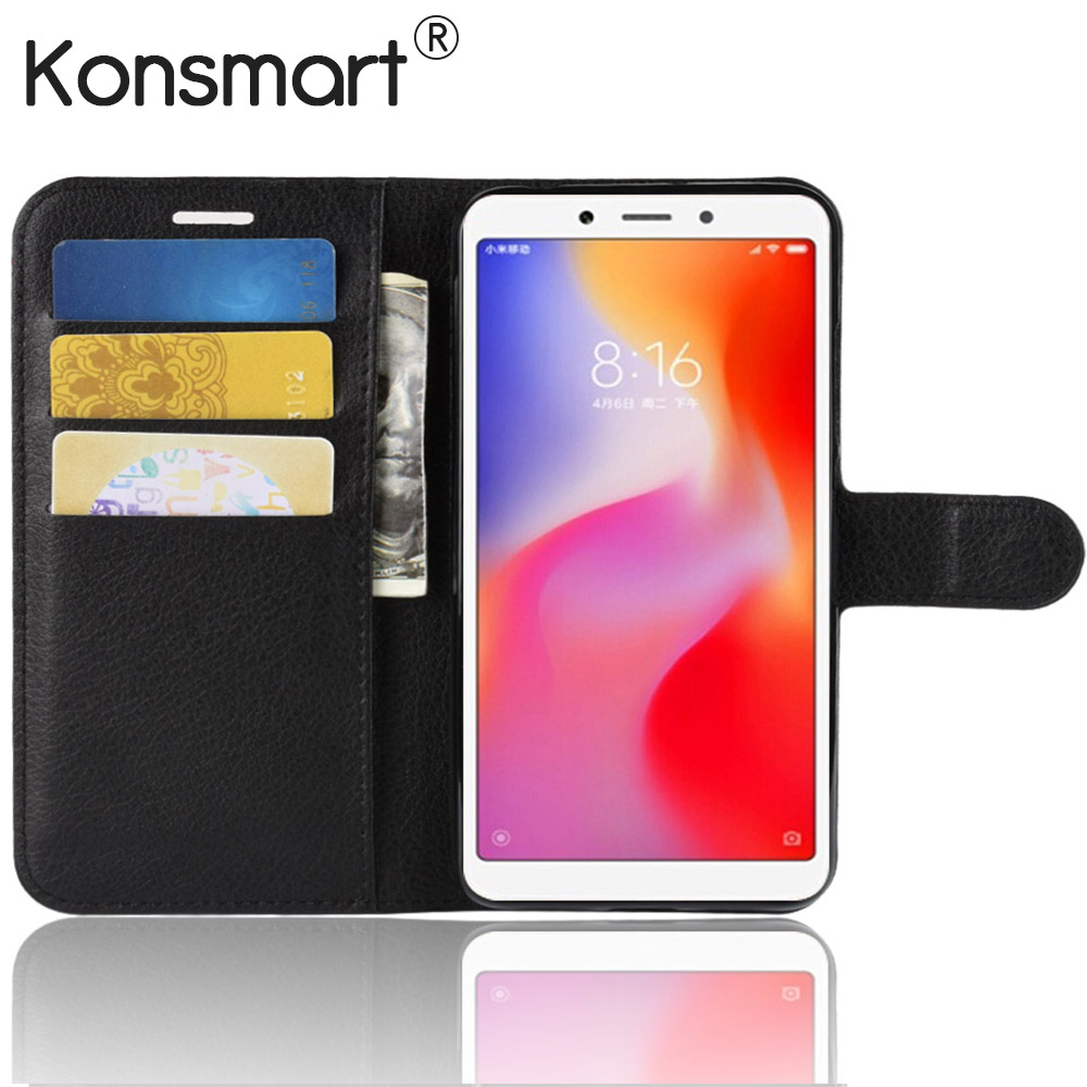 Case For Xiaomi Redmi 6A Wallet Book Case Redmi 6A Back Cover Flip PU Leather Phone Cases 2GB 16GB 32GB 5.45 Fundas KONSMARTCase For Xiaomi Redmi 6A Wallet Book Case Redmi 6A Back Cover Flip PU Leather Phone Cases 2GB 16GB 32GB 5.45 Fundas KONSMART