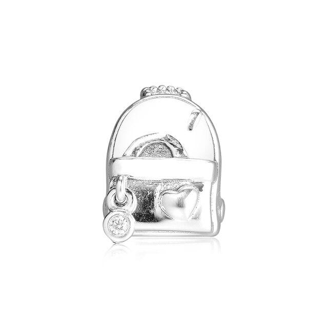 925 Sterling Silver Adventure Bag Charm Original Beads for Jewelry Making Fits Charm Bracelets kralen perles boncuk Bead