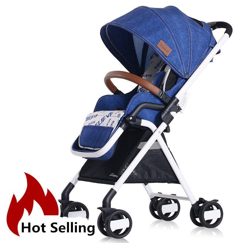 5.7kg Fashion Baby Umbrella Cart Light Portable Baby Buggys Baby Stroller Pram Highview Folding Pushchair 4 Wheels Baby Trolley fashion baby stroller high view portable bidirectional foldable aluminum alloy shock absorption baby pram pushchair buggys