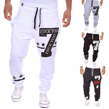 ZOGAA Vogue Geek Men Sports Pants New Korean Casual Letter Printing Elastic Waist Loose Long Gym Running Trousers