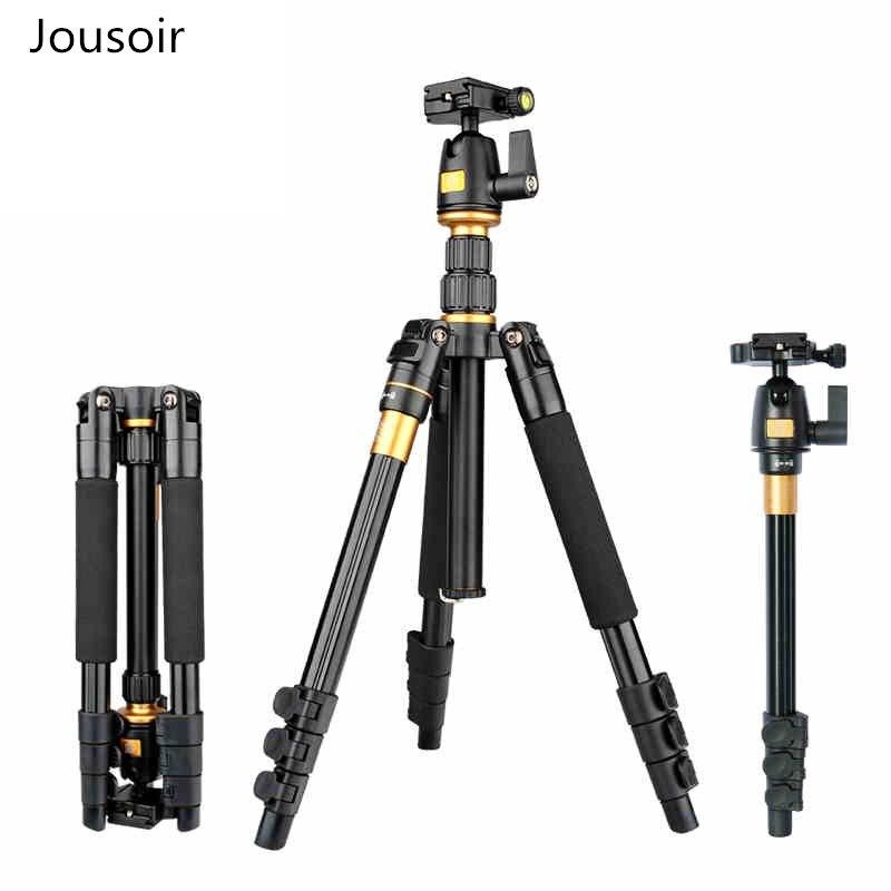 Zomei Q555 support de trépied d'appareil-photo flexible en aluminium professionnel avec tête à bille pour appareils photo reflex numériques prise de vue CD50