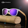 2017 White Color Wood Bamboo Sunglasses Women's Bamboo Polarized men Sunglasses With UV 400 Protection With Wooden Case