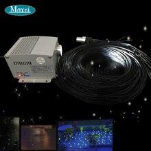 Maykit палубе и патио оптоволоконного кабеля с белый Cree светодиодный мерцание Цвет колеса свет проектора и 1,5 мм волокна с черный пиджак ПВХ