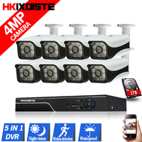 HD H 264 8CH DVR Kit 4 0MP Security Camera CCTV System 8PCS AHD 4MP Camera