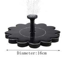 Kit darrosage de plantes de pompe sans brosse de fontaine dénergie solaire avec le panneau monocristallin pour le bain doiseau
