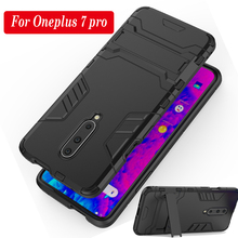 Phone Case For Oneplus 7 Pro Hybrid Silicone TPU+PC Anti-knock Stand Back Cover For Oneplus 6 6T 5 5T 3 3T Kickstand Case
