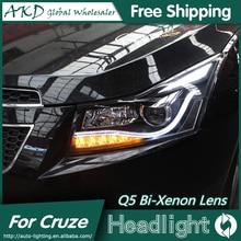 AKD автомобильный Стайлинг Головной фонарь для Chevrolet Cruze фары 2009- светодиодный фары DRL Q5 Биксеноновые линзы Высокий Низкий луч парковка