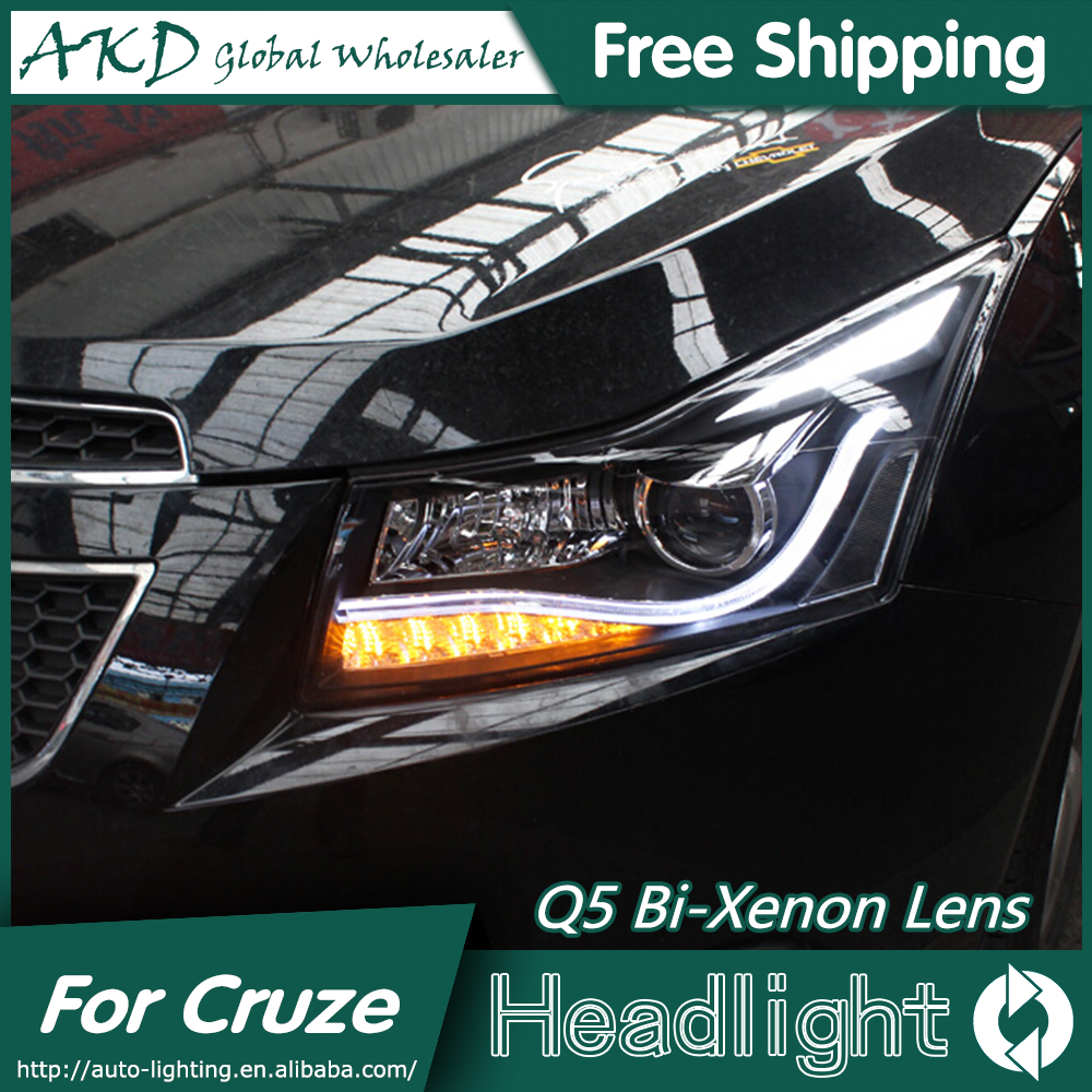 Akd car styling head lamp for chevrolet cruze headlights 2009 2015 led headlight drl q5