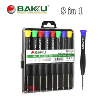 BAKU High Quality 8 in 1 Precision Screwdriver Set Portable Repair Kit Ferramentas for iPhone Blackberry Samsung Mobile Phone(China)