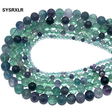 Wholesale Natural Stone Green Fluorite Round Loose Beads For Jewelry Making Charm DIY Bracelet Necklace Material 4 6 8 10 12 MM purple fluorite natural stone loose round beads for jewelry making diy fluorite stone beads material 4 6 8 10 12mm wholesale