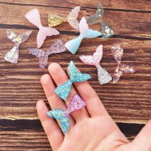 8pcs/lot Glittering Crystal Clear Mermaid Fish Tail Shell Slices Slime Filler For Kids DIY Accessories Supplies Decoration(China)