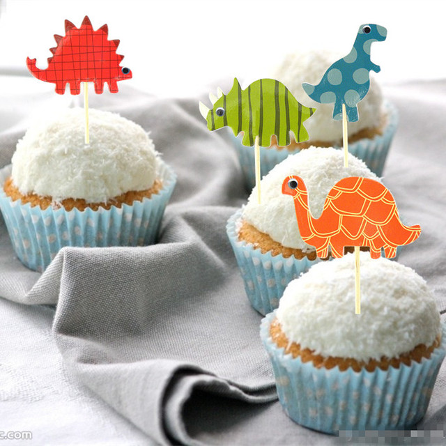 24pcs dinosaur cupcake toppers picks funny wedding cake toppers 24pcs dinosaur cupcake toppers picks funny wedding cake toppers cake decorating supplies baby party decoration junglespirit Image collections