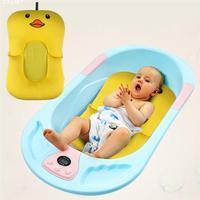 Newborn Cute Bath Tub Cartoon Yellow Duckling Baby Bath Pad Aid Bathing Anti slip Mat Support Safety Bath Tub for Toddler