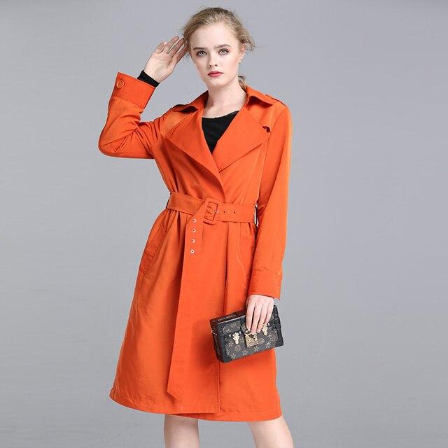 6a499740783 2018 Women Coat Plus Size L 5XL Jacket Spring Fall Boho Clothing Runway  Womens Long Windbreaker