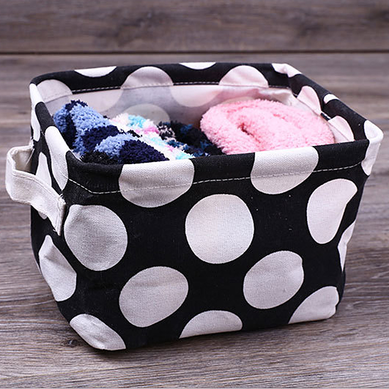 Boxes Storage-Basket Containers Sundries-Box Creative Cotton Waterproof 1pcs Dots Pe-Coating