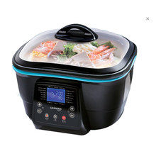 AC220-240V 50-60HZ 1600W POWER ELECTRIC AIR FRYER DEEP FRYER 5L CAPACITY Touch Screen Kitchen Pressure Cooker WITH ENGLISH PANEL(China)
