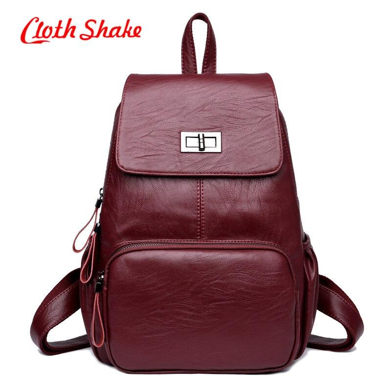 New Design PU Leather Backpack Women Backpacks For Teenage Girls School Bags All Season Fashion Shopping Backpack Mochilas Mujer