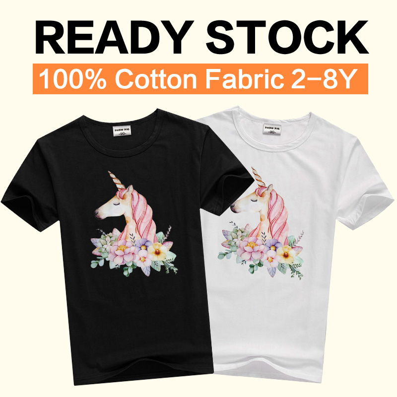 Unicorn Swimming Ring Short Sleeve T Shirts Baby Boys
