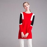 2018 Весна Новый свитер платье Красный Для женщин Мода Повседневное милое платье для женщин; Большие размеры XL-5XL Готический Платья-свитеры