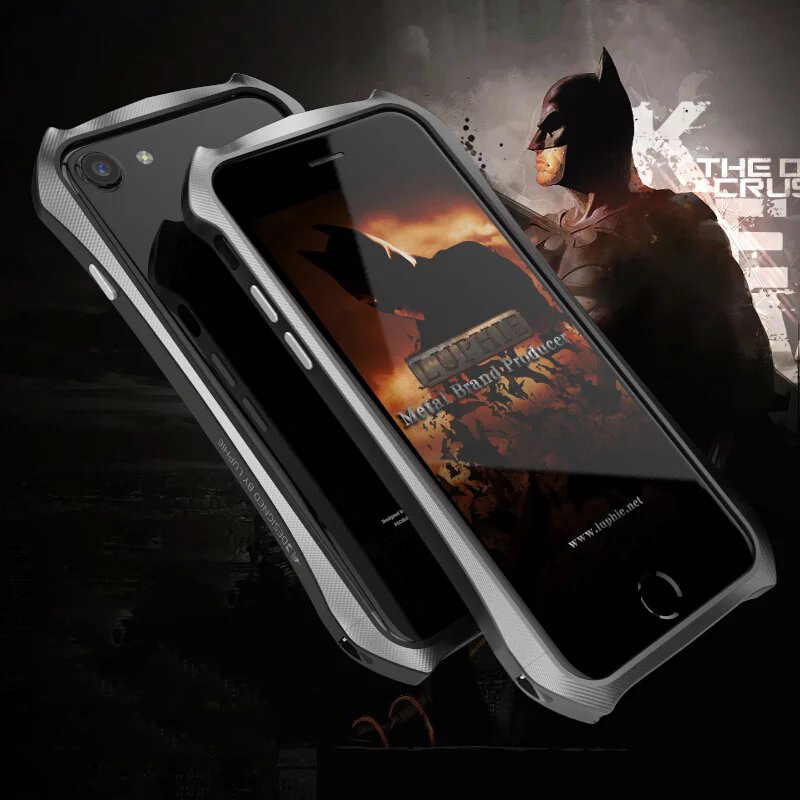 new concept a85c2 fdc71 US $18.02 |LUPHIE Metal Bumper for iPhone 7 7 plus Never Fade Aerospace  Aluminum Batman Phone Frame for iPhone 7 Bumper for iPhone 7 plus-in Phone  ...