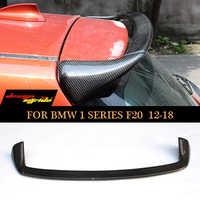 Para bmw f20 spoiler traseiro de fibra carbono asa spoiler para bmw série 1 f20 spoiler harchback 2012 + cauda asa 116i 118i 120i