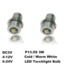 3W P13.5S 3V 4-10V 6-24V LED Flashlight Torch Replacement Bulbs CREE XPG2 Chips LED Flashlight Bulb Light