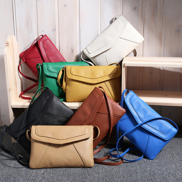 b7a444287e2 Goedkope Vrouwen Envelop Tas Pu lederen Handtas schoudertassen Dames  Crossbody Sling Messenger Bag Portemonnees Blauw Zwart