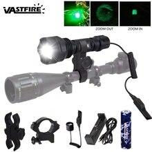 Тактический фонарь для пистолета масштабируемый 18650 лм светодиод