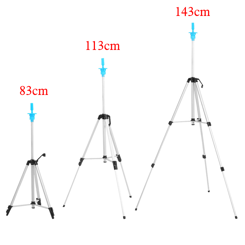 Three Layers Adjustable Tripod Stand Hair Training Mannequin Head Holder Clamp Aluminum Practice Showed Prop Salon Styling Tools ...