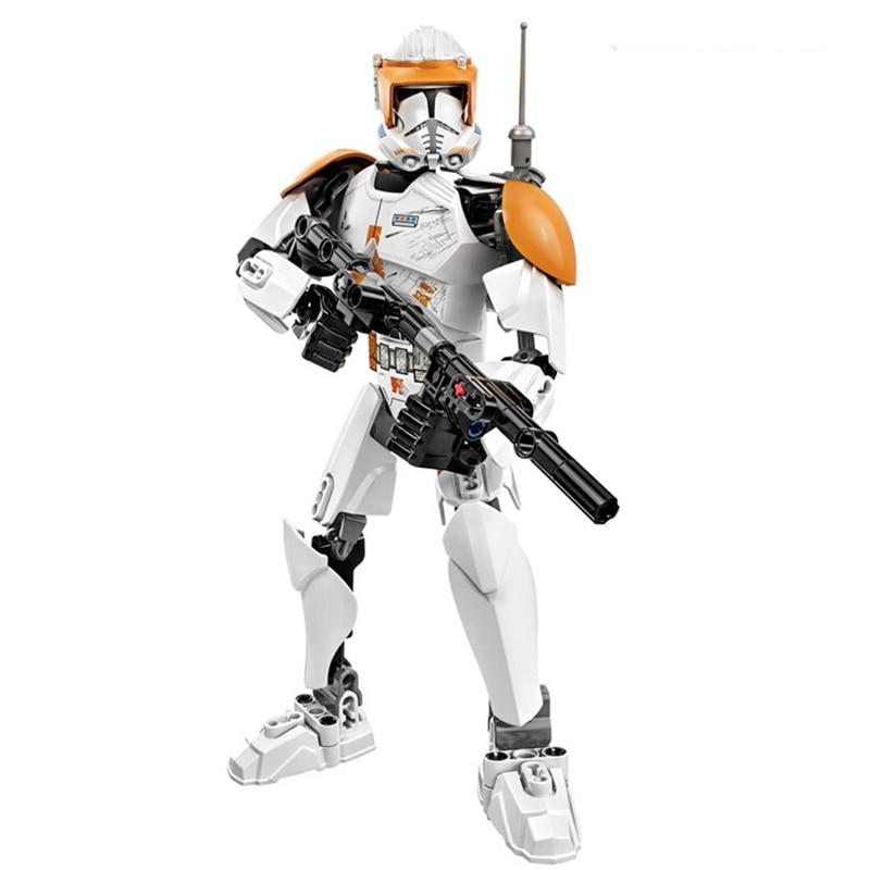 Звездные войны сборная фигура строительный блок Штурмовик Дарт Вейдер Kylo Ren Chewbacca Boba Jango Фетт фигурка игрушка для детей - Цвет: Clone Commander