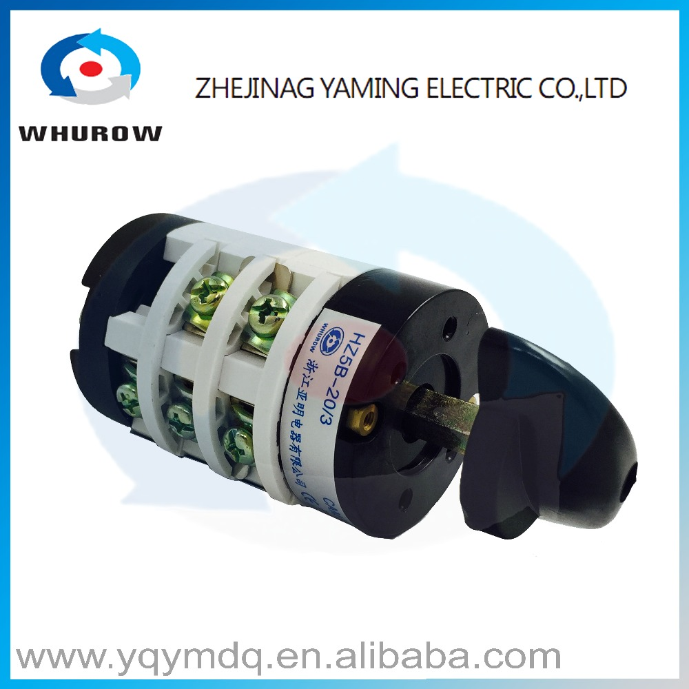 HZ5B-20/3 for dismantling machine only electrical changeover rotary cam combination switch three poles 20A sliver point contacts rotary switch ymz12 25 4 changeover cam combination switch 4 poles 8 positions 14 terminals 25a ui 690v sliver point contacts