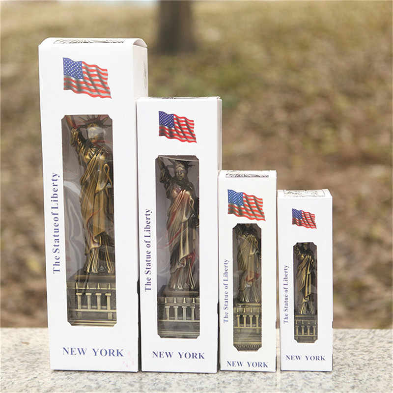 Realistic Bronze American USA New York the Statue of Liberty Replica Model Free Goddess Figurines Desk Table Decorations Crafts