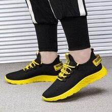 a0450292c Vulcanizar HEFLASHOR 2019 Homens Tênis Casuais Sapatos Da Moda Homem Lace  Up Tecido de Malha Masculino