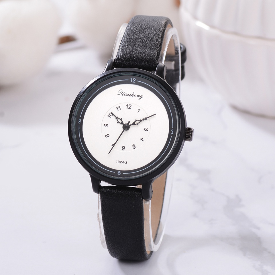 Ladies Watches Top Brand Luxury Black Small Leather Strap Watch Ladies Sport Quartz Clock Creative Dial Women Dress Watches kezzi dress quartz watch women elegant leather strap ladies watches stripe dial top brand luxury clock woman relojes mujer 2018