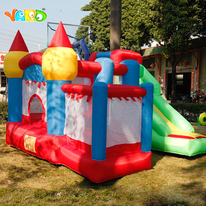 Image 4 - YARD Inflatable House Trampoline Bounce Castle  with Slide Home Use Park Inflatable Bouncer For Children Outdoors Games